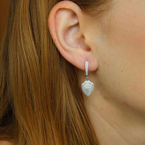 boucle oreille femme argent zirconium 9300223 pic5