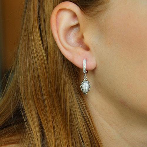 boucle oreille femme argent zirconium 9300224 pic5