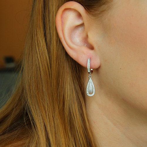 boucle oreille femme argent zirconium 9300225 pic5