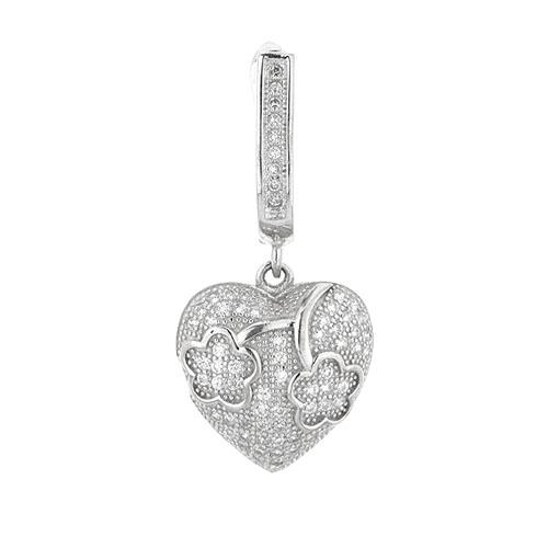 boucle oreille femme argent zirconium 9300226 pic2