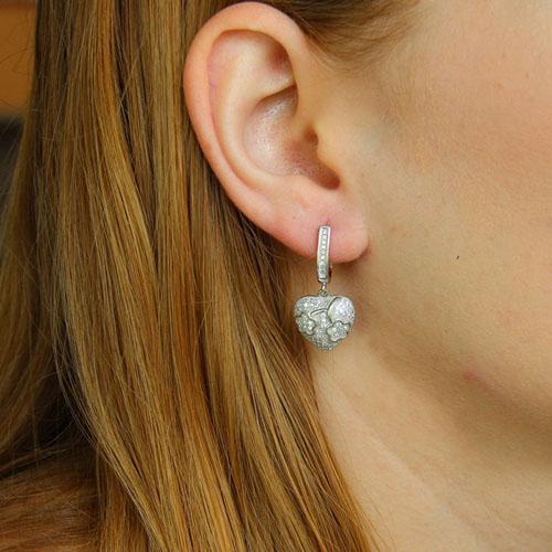 boucle oreille femme argent zirconium 9300226 pic5