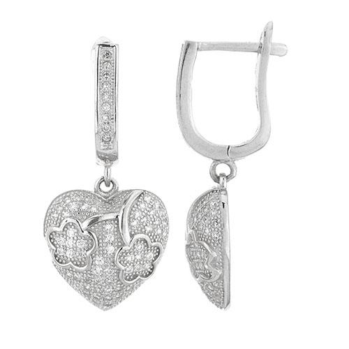 boucle oreille femme argent zirconium 9300226