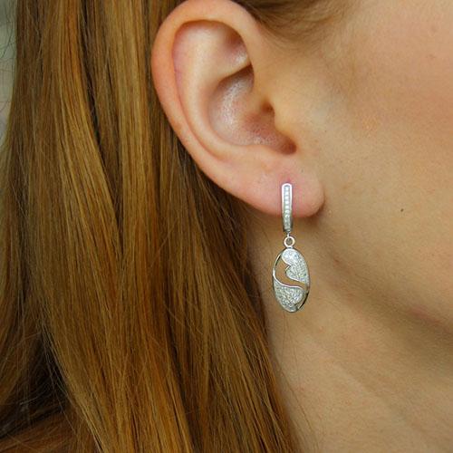 boucle oreille femme argent zirconium 9300227 pic5