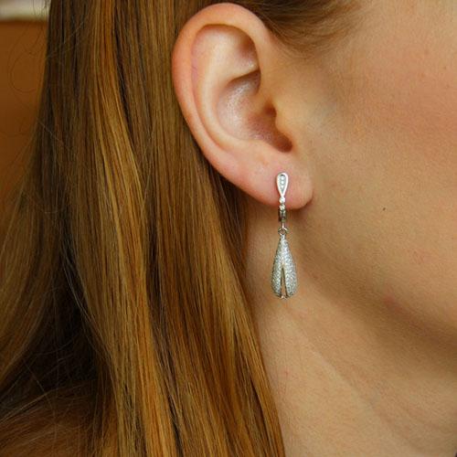 boucle oreille femme argent zirconium 9300228 pic5