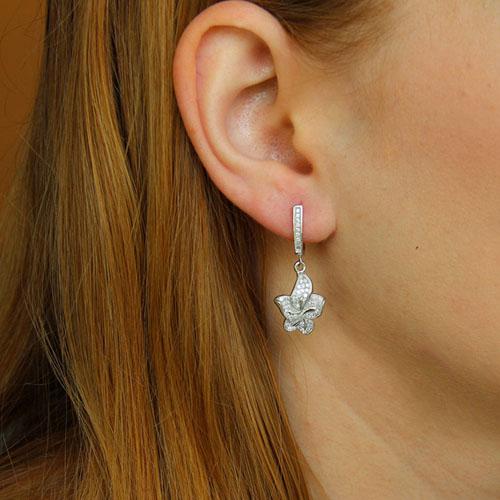 boucle oreille femme argent zirconium 9300229 pic5