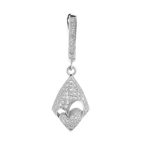 boucle oreille femme argent zirconium 9300230 pic2