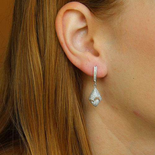 boucle oreille femme argent zirconium 9300230 pic5
