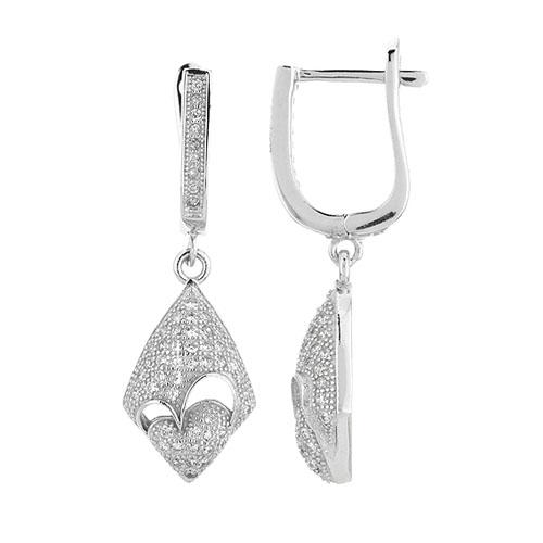 boucle oreille femme argent zirconium 9300230