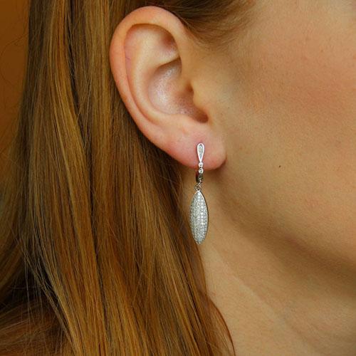 boucle oreille femme argent zirconium 9300231 pic5