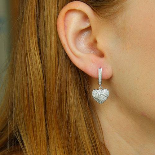 boucle oreille femme argent zirconium 9300232 pic5
