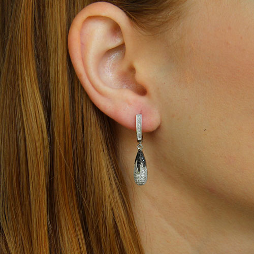 boucle oreille femme argent zirconium 9300233 pic5