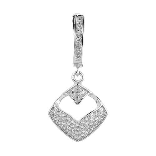 boucle oreille femme argent zirconium 9300234 pic2