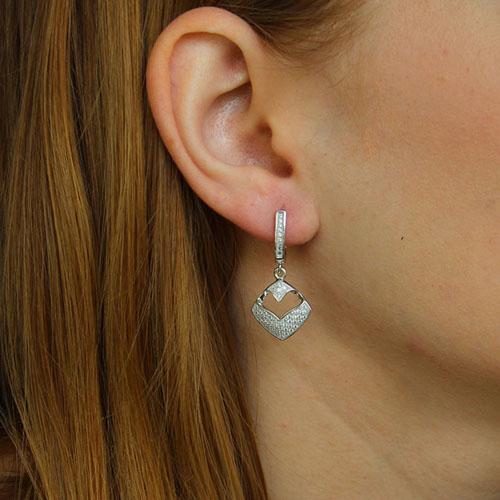 boucle oreille femme argent zirconium 9300234 pic5