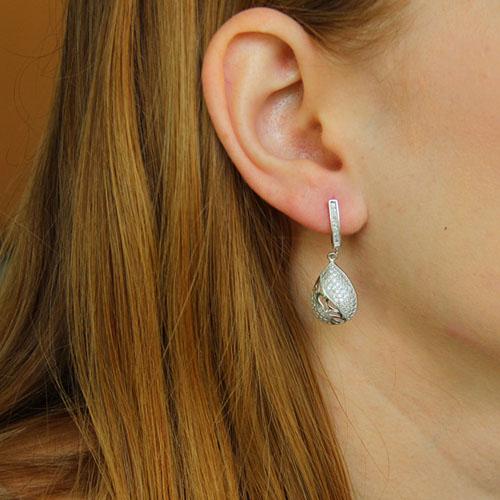boucle oreille femme argent zirconium 9300235 pic5