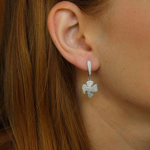 boucle oreille femme argent zirconium 9300236 pic5