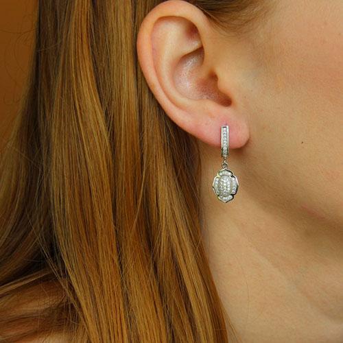 boucle oreille femme argent zirconium 9300237 pic5