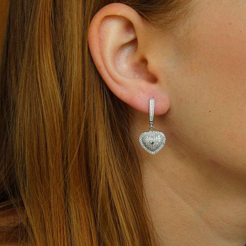 boucle oreille femme argent zirconium 9300238 pic5