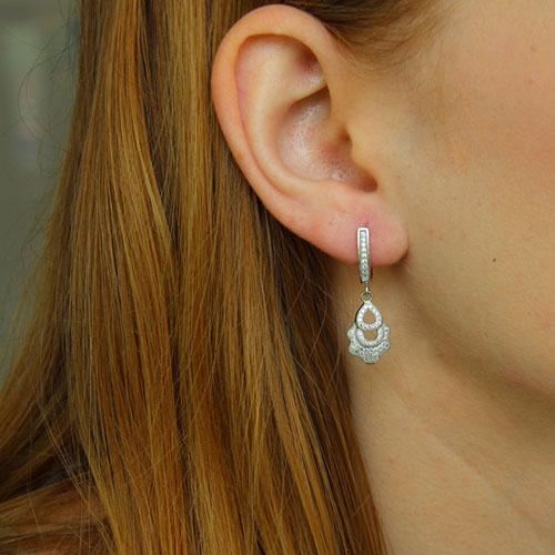 boucle oreille femme argent zirconium 9300239 pic5