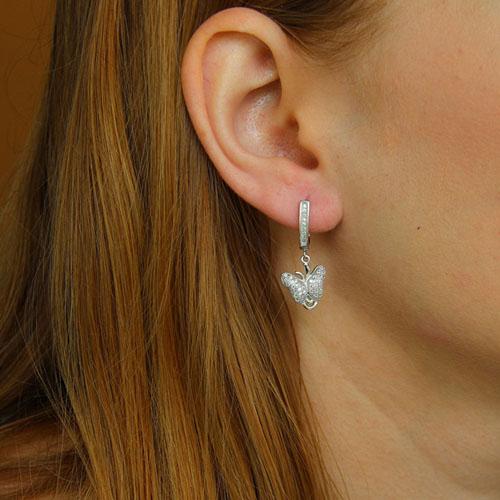 boucle oreille femme argent zirconium 9300240 pic5