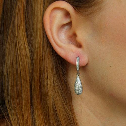 boucle oreille femme argent zirconium 9300241 pic5