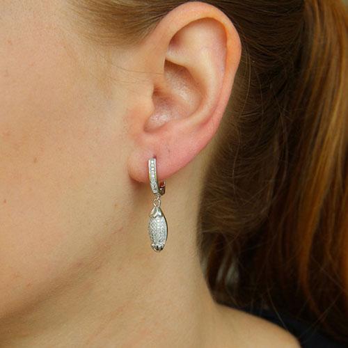 boucle oreille femme argent zirconium 9300242 pic5