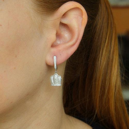 boucle oreille femme argent zirconium 9300243 pic5