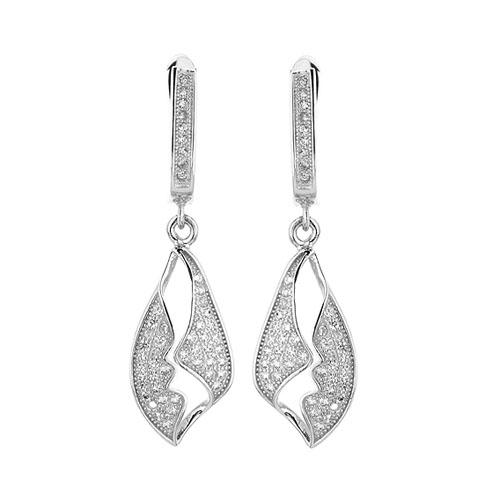 boucle oreille femme argent zirconium 9300244 pic2