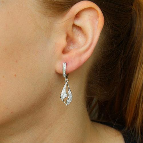 boucle oreille femme argent zirconium 9300244 pic5