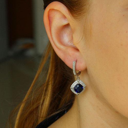 boucle oreille femme argent zirconium 9300245 pic5