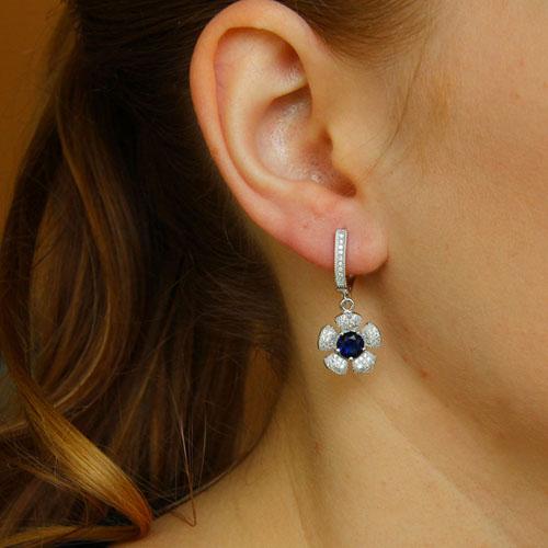 boucle oreille femme argent zirconium 9300246 pic5