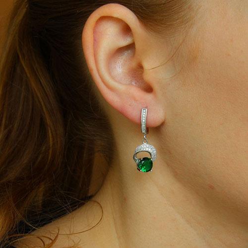 boucle oreille femme argent zirconium 9300248 pic5