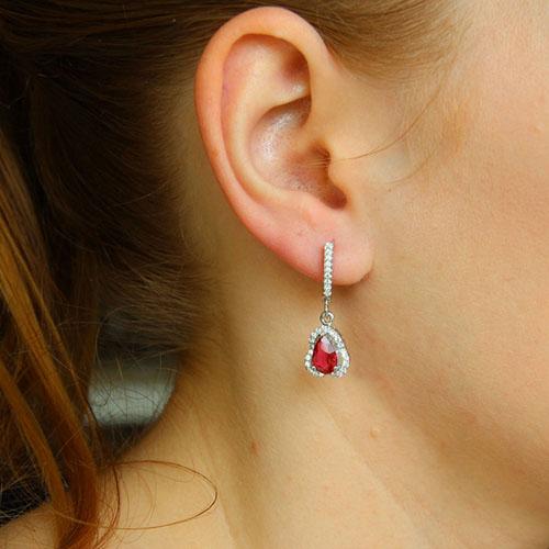boucle oreille femme argent zirconium 9300249 pic5