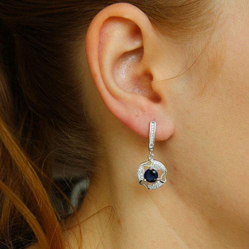boucle oreille femme argent zirconium 9300250 pic5