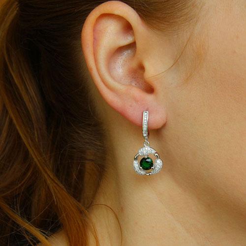 boucle oreille femme argent zirconium 9300251 pic5