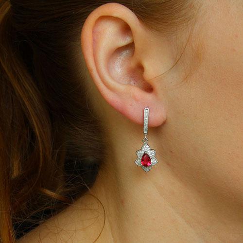 boucle oreille femme argent zirconium 9300252 pic5