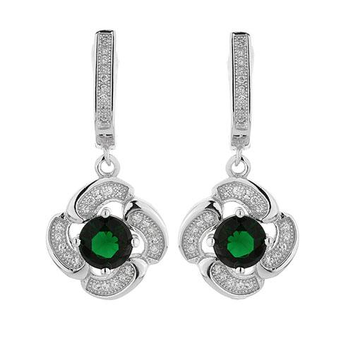 boucle oreille femme argent zirconium 9300254 pic2
