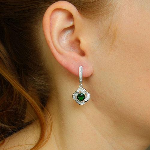 boucle oreille femme argent zirconium 9300254 pic5