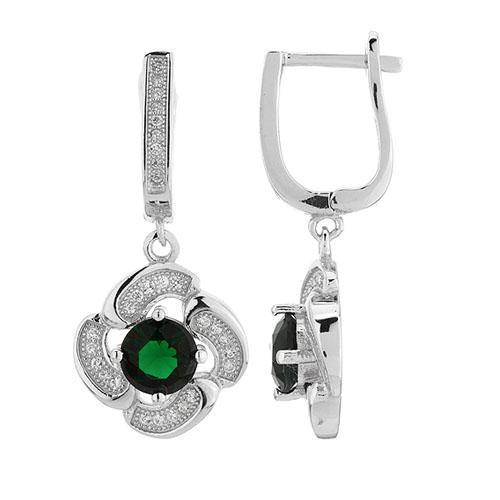 boucle oreille femme argent zirconium 9300254