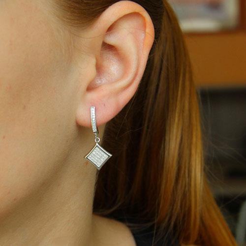 boucle oreille femme argent zirconium 9300255 pic5