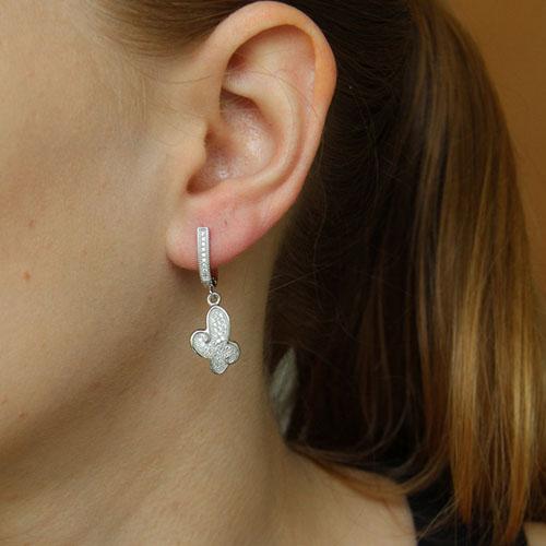 boucle oreille femme argent zirconium 9300256 pic5