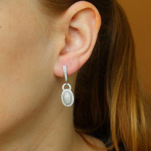 boucle oreille femme argent zirconium 9300257 pic5