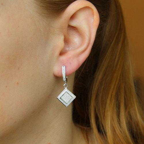 boucle oreille femme argent zirconium 9300258 pic5