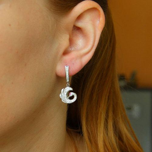 boucle oreille femme argent zirconium 9300259 pic5