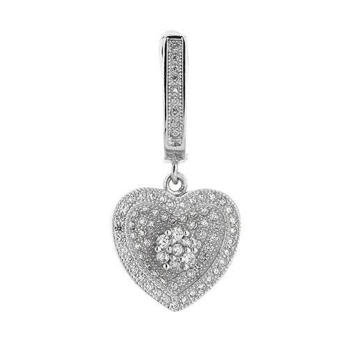 boucle oreille femme argent zirconium 9300260 pic2