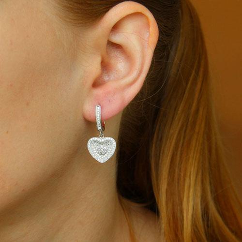 boucle oreille femme argent zirconium 9300260 pic5