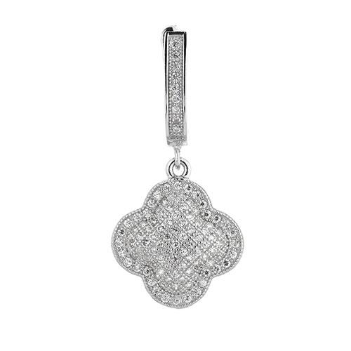 boucle oreille femme argent zirconium 9300261 pic2