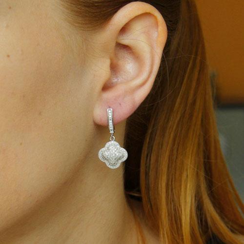 boucle oreille femme argent zirconium 9300261 pic5
