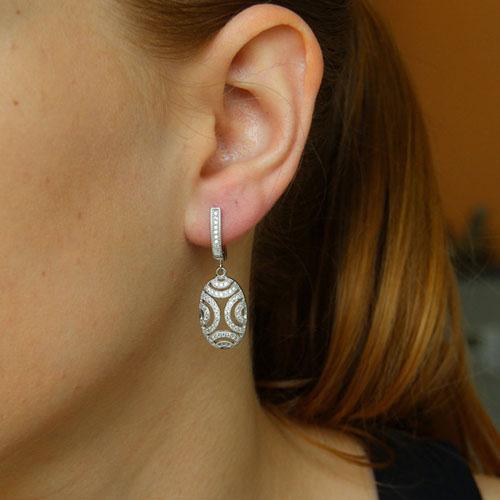 boucle oreille femme argent zirconium 9300263 pic5