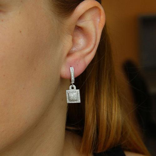 boucle oreille femme argent zirconium 9300264 pic5