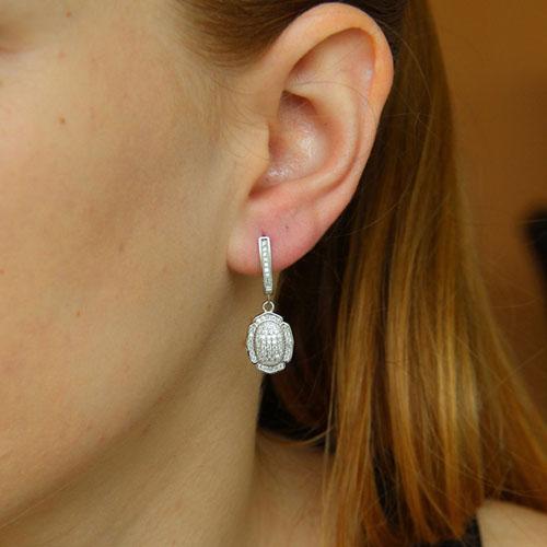 boucle oreille femme argent zirconium 9300265 pic5